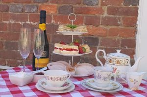 cream teas display